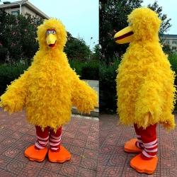 Mascotte Grande uccello giallo