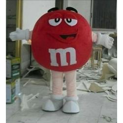 Mascotte M&M rosso