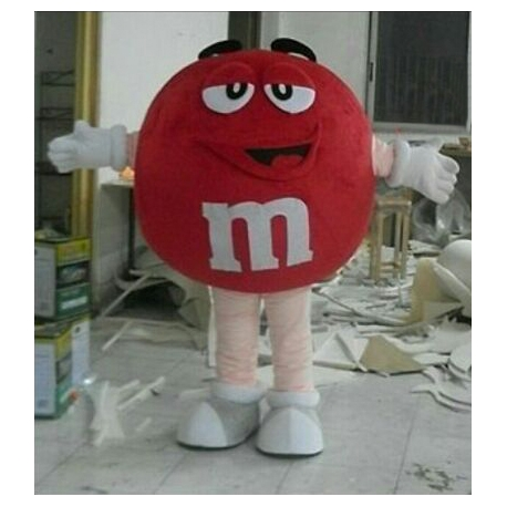 Mascot Costume M&M red