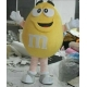 Mascot Costume M&M yellow