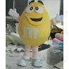 Mascot Costume M&M yellow