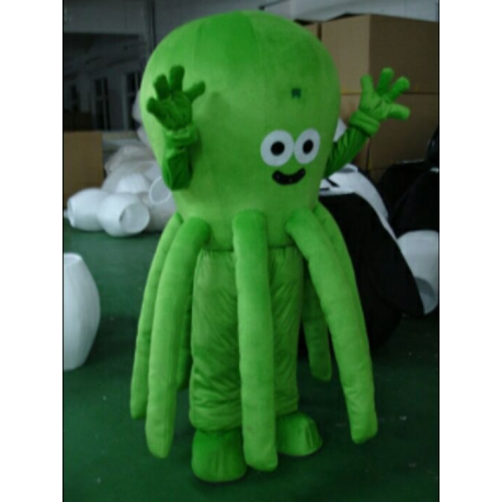 Mascot Costume Green Octopus