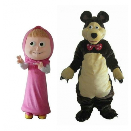Mascot Costume Masha and Bear