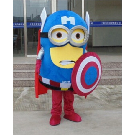 Mascot Costume Minion 2 eyes - Capitan America