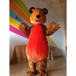 Mascot Costume Bear - red belly