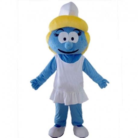 Mascotte Donnina Blu