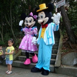 Mascotte Topolino e Minnie Mr e Miss businessman