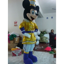 Mascot Costume Disney Mickey Mouse Gold