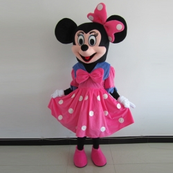 Mascot Costume n° 88 - Miss fuchsia big bow