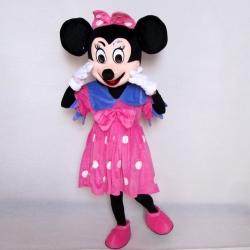 Mascotte Minnie fucsia fiocco viola