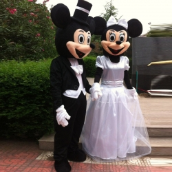 Mascot Costume Mickey and Minnie Mouse married
