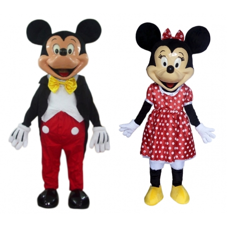 Mascotte n° 178 - Mr e Miss classici fibra di vetro