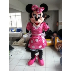 Mascot Costume Minnie Fuchsia - Super Deluxe