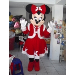 Mascot Costume Minnie Christmas - Super Deluxe