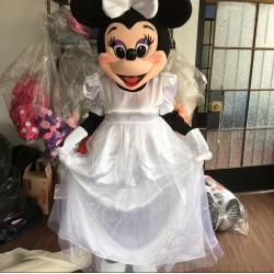 Mascot Costume Minnie Mouse Bride - Super Deluxe