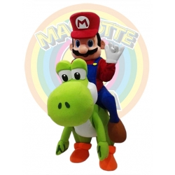 Mascot Costume Super Mario and Yoshi