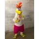Mascotte costume personalizzata Gallo San Teodoro