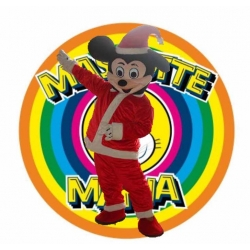 Mascot Costume Disney Mickey Mouse Santa Claus