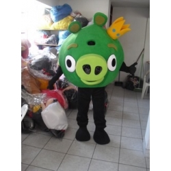 Mascotte Maialino Verde - Angry Birds - Super Deluxe