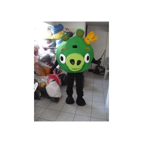 Mascot Costume Green Pig - Angry Birds - Super Deluxe