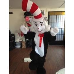 Mascotte Il Gatto e il Cappello Matto - Super Deluxe