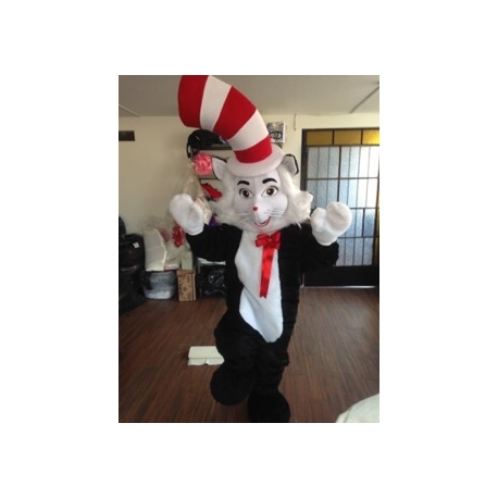 Mascot Costume The Cat in the Hat - Super Deluxe