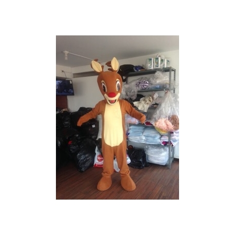 Mascot Costume Rudolph red nose - Super Deluxe