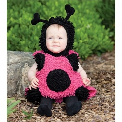 Mascot Costume Pink Lady Bug
