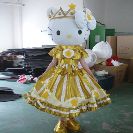 Mascot Costume Hello Kitty Queen
