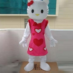Mascot Costume Hello Kitty red heart