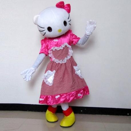 Mascot Costume Hello Kitty heart