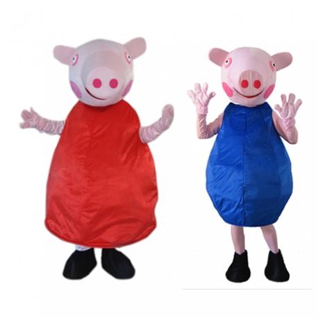 Mascotte Peppa e George