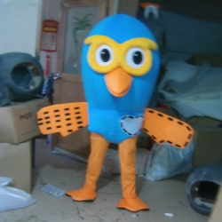 Mascot Costume Pigeon Yellow Glasses