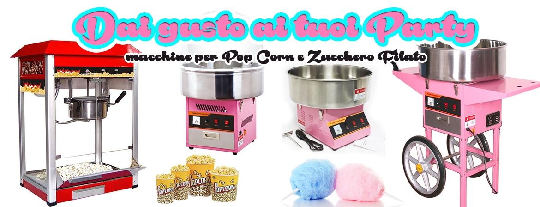 Macchine per popcorn e zucchero filato