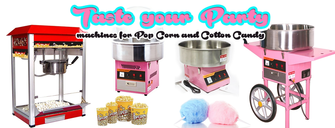 Machine for popcorn and cotton candy